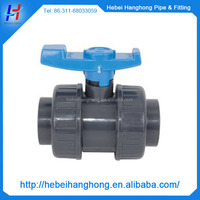 1/2 inch pvc threaded double true union ball valve