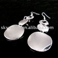 50% Off Shipping Free Mix Designs Cheap Silver shiny Drop fashion Earrings (SWTSD020)