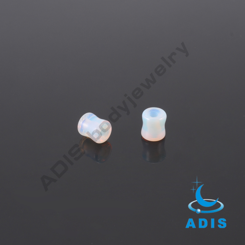 High quality piercing jewelry stone expander ear tunnel studs wholesale
