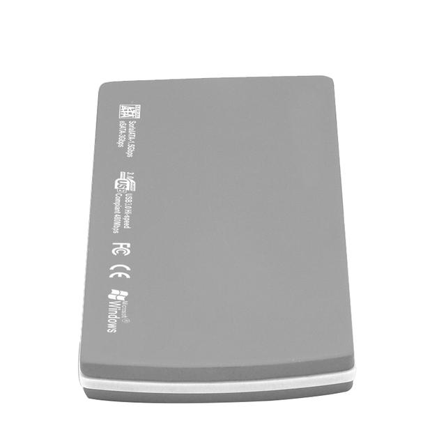 Aluminum 2.5 inch SATA HDD enclosureHDD case USB 2.0 interface