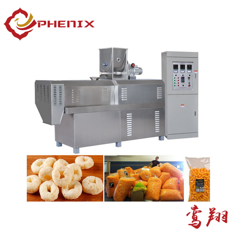 puffed maize curl snacks food extruder making machine