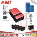 120A MPPT hybrid solar inverter 4kw to 12kw 48VDC LCD display showing PV input voltage and power watt