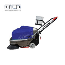 Road Cleaner Handheld Street Sweeper P100A Maual Small Walk Behind Street Sweeper