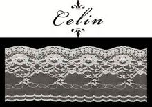 Queency african lace fabrics Italy, lace elastic, metalic thread in stock