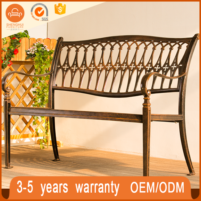 Cheap used park garden bench with metal legs brackets garden furniture China long chair furniture design