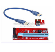 SATA to 15Pin IDE Molex Power Supply PCI-E 1x to 16x Riser Adapter Card USB 3.0 Data Cable 60cm for mining