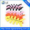 Customized shape and logo soft silicone earphone cord cable winder