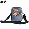 ONE2 design funny dogs pattern cheap chain strap shoulder bags