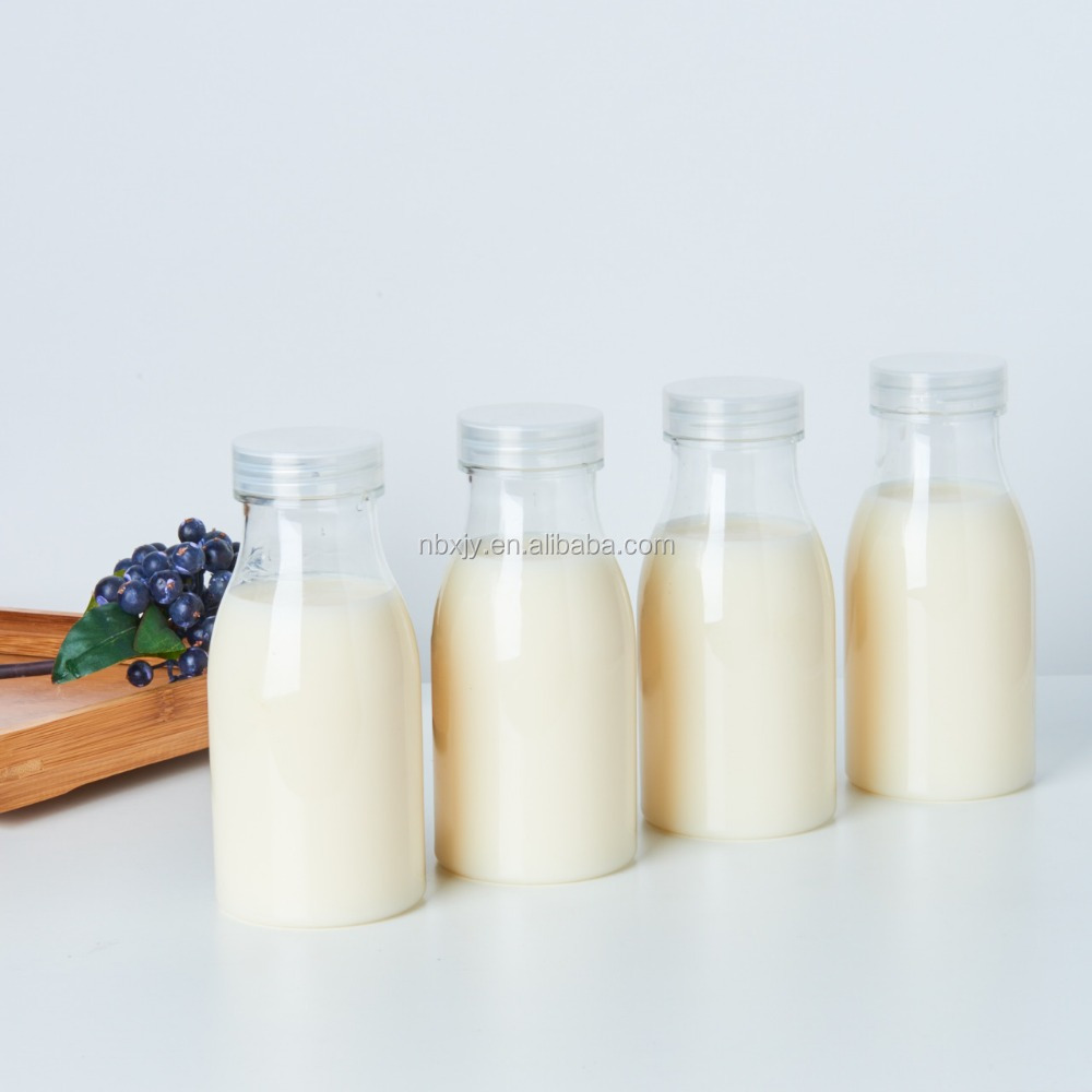 250ml PET milk/ yogurt /pudding small Clear plastic bottle