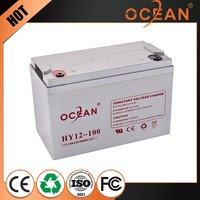 Decorative new design diaphanous 12V 100ah sealed lead acid battery