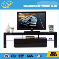 Hotel Design Espresso Entertainment TV Stand Unit Furniture Modern Living Room Wooden TV Stand