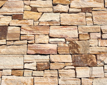 Yellow sandstone stacked natural stone exterior wall cladding panels