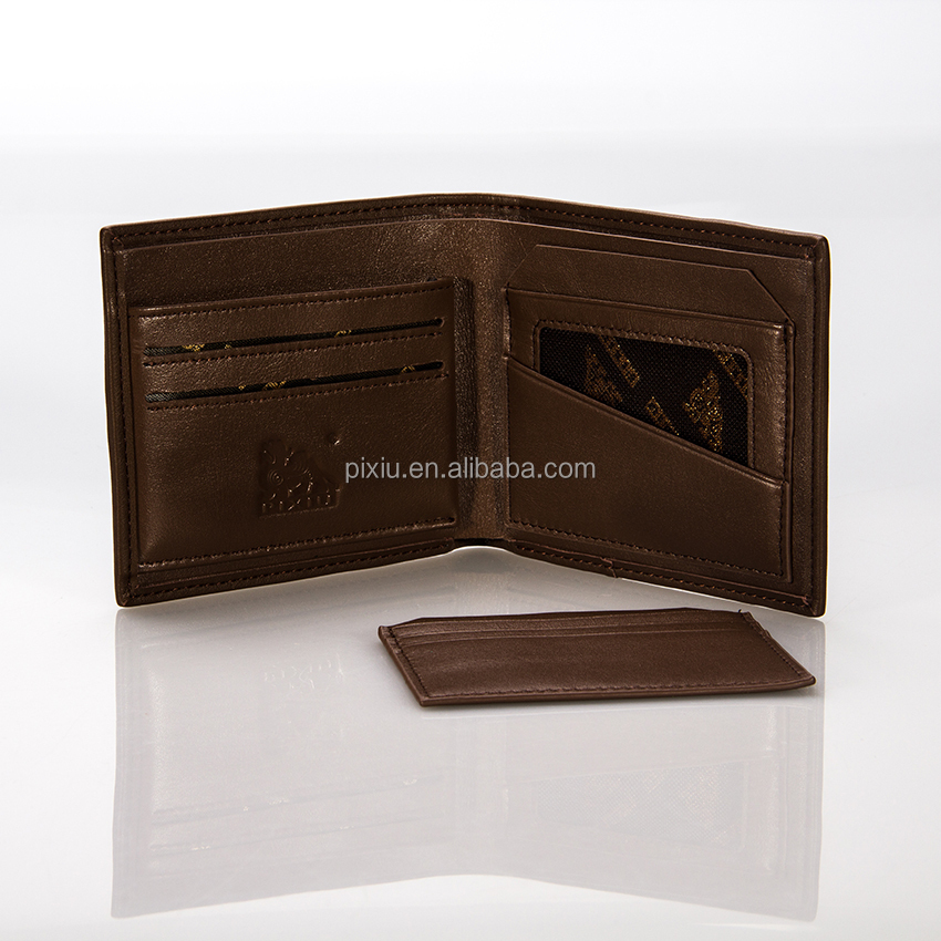 Hong Kong Popular Design Human Leather Men's Wallet 2015