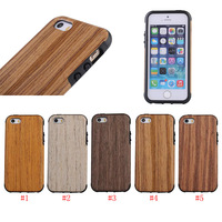 Wood Line PU Leather Silicone Gel Soft Back Skin Cover Case For iPhone SE