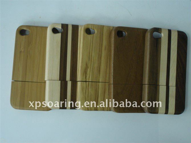 Real wood cover case for iphone 4, pure wood case for iphone 4S, Cellphone case for iphone 4S 4g
