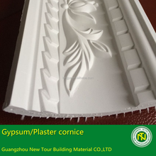 2.44 meters long fireproof plaster cornice gypsum for decoration