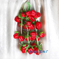 Real touch artificial strawberry fruit strings,vines/Yiwu sanqi craft factory