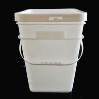 Custom logo Plastic 5 gallons round food grade pp Buckets with lids