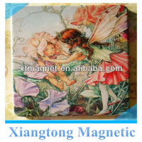 Size 5.5*7.5cm Custom Printed Lovely Flower fairies Tin Plate Fridge Magnet /Custom Metal Fridge Magnets