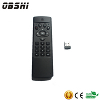 Rechargeable 2.4G air mouse with keyboard for smart tv