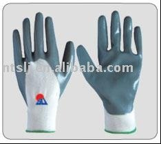 SLJsafety Nitrile coated on palm working glove