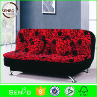 2015 latest design living room storage box sofa bed / cheap sofa cum bed / metal frame sofa bed with futon