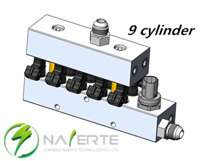9 cylinder auto engine natural gas injectors