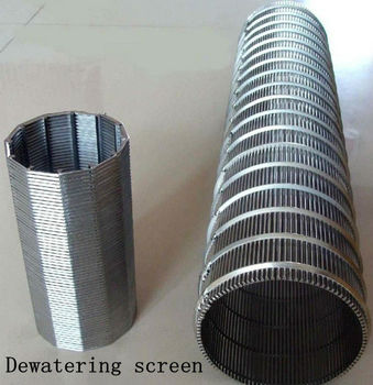 Wear life wedge wire screen food processing dewatering screen