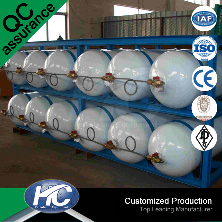 High quality aluminum alloy gas cylinder/ used lpg tank/ high pressure gas cylinder for oil drilling
