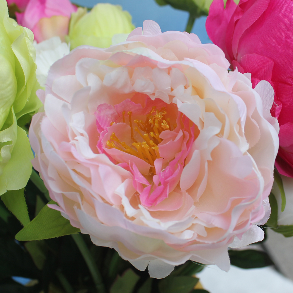 Wholesale 55CM handmade table decor peony wedding artifical flower