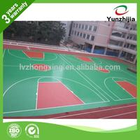 silicon PU basketball court flooring