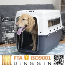 Plastic dog carrier cage car