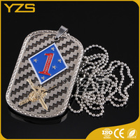 2016 hot sale fashion sword design metal reflective dog tag with ball chain