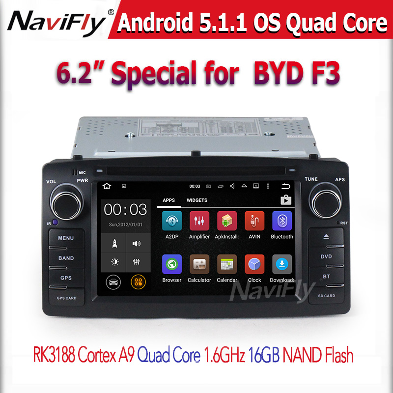 For Toyota Corolla E120 BYD F3 Android 5.1.1 Quad core RK3188 2 Din Car DVD player with Capacitive screen WIFI 3G GPS Car radio