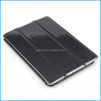 Smooth black pu leather case pc shell cover for ipad mini