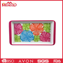 Hot sale square flower print tray/melamine milk servicing tray