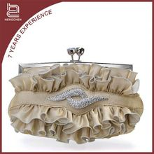 Elegant Silk Satin Corrugated Handbag Handbags Wholesale New York