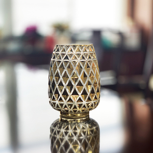 mosaic candle holder CANDLE HOLDER WITH LID gold candle holder