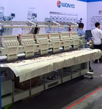 6 heads computerized melco commercial embroidery machines for sale