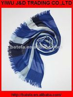 2012 Latest New design 100% Polyester Fashion print checked scarf