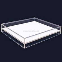 acrylic stackable gem counter display case square plexiglass jewelry display trays