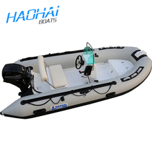 CE certified 390cm rigid fiberglass inflatable driving boat for sale