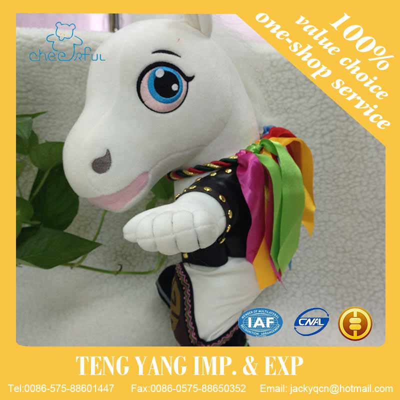 Alibaba China supplier New design Eco-friendly Soft touch horse plush toy