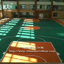 High Quality Basketball Court Synthetic Flooring/PVC Synthetic Badminton Courts