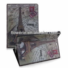 FL3273 2013 Guangzhou hot selling retro classic paris eiffel tower flip leather case for ipad air 5