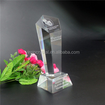 Personalized new design Clear 3d engraved crystal statue of Liberty Trophy