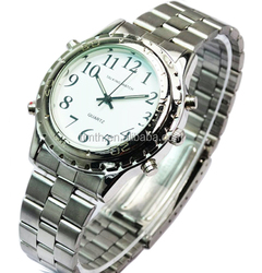 Analog english talking watch alarm sports wrist watch for old people speaking watch