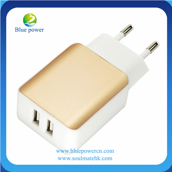 mobile phone accessories manufacturer 2.1A 2 port usb charger 2100ma wireless charger usb wall charger
