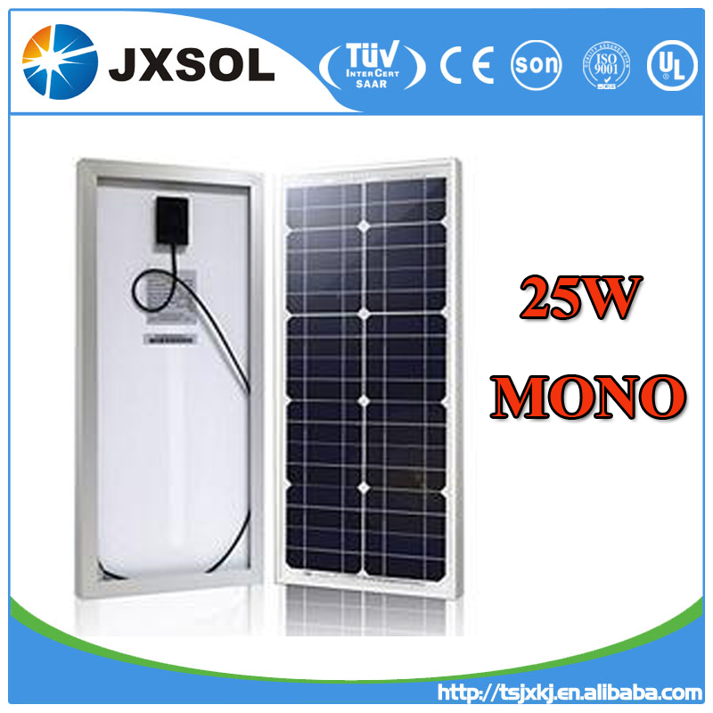 high quality 25 watt mono silicon solar panel for solar power system home