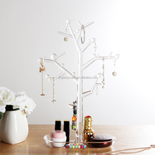 New fashion tree shape clear plastic acylic hanging jewelry organizer
